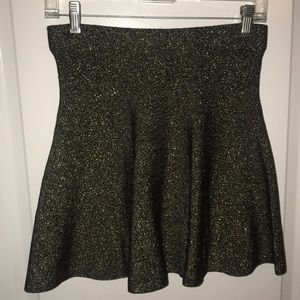 Black/Gold Skater Skirt